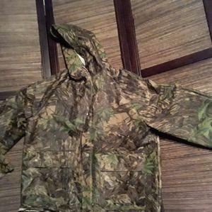 Stearns dry wear camouflage rain coat hoody